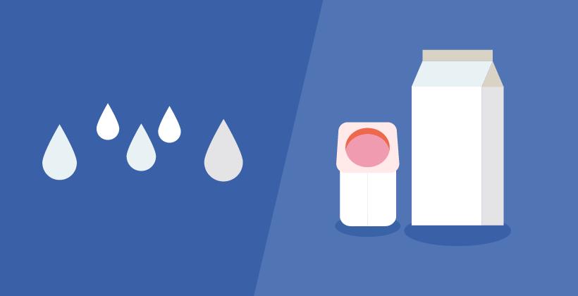 Milch und Joghurt (Infografik)
