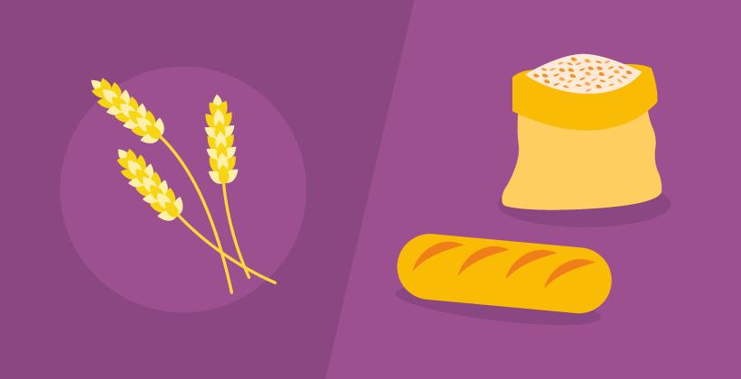 Körner und Brot (Infografik)