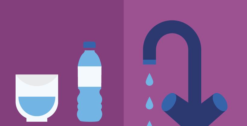 Die Sicherheit abgefüllten Trinkwassers