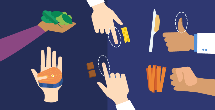 Wie man Portionsgrößen mit den eigenen Händen messen kann (Infografik)