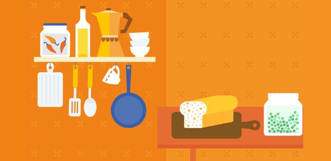 Kochen und Einkaufen