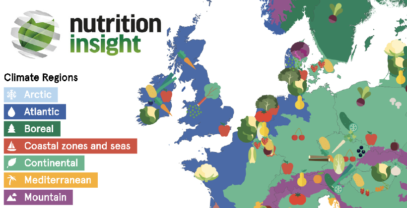 New fruit and vegetable map details fresh produce consumption across Europe