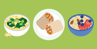 Plant-based protein sources for vegans and vegetarians (infographic)