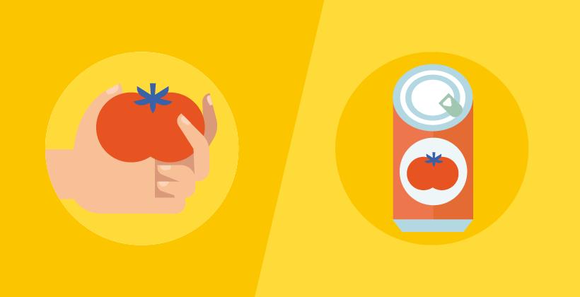 Tomates enlatados (infografía)