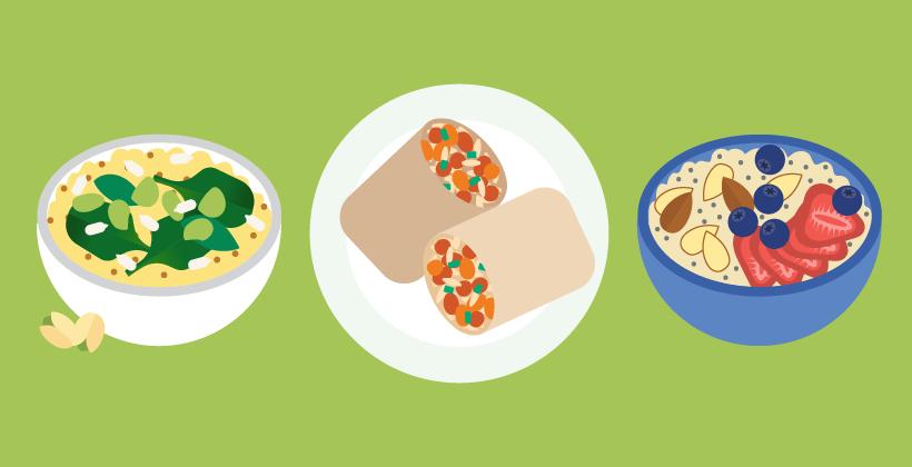 Fuentes de proteínas de origen vegetal para veganos y vegetarianos (infografía)