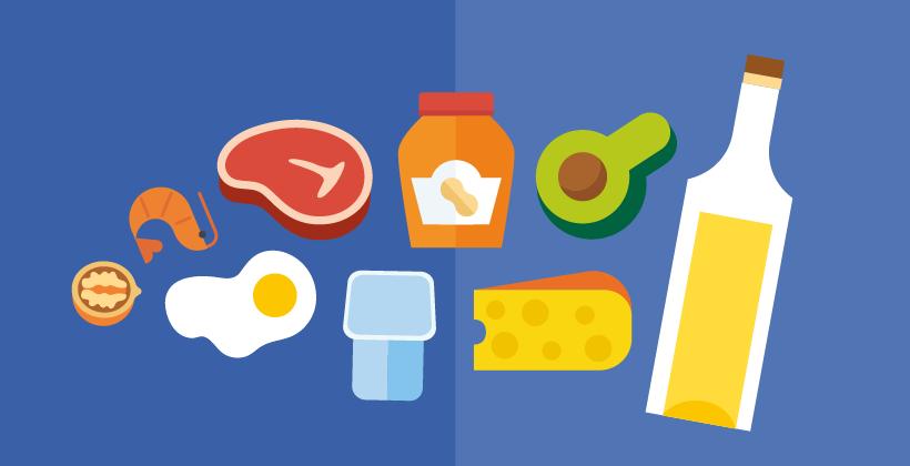 Dietas bajas en carbohidratos y altas en grasas