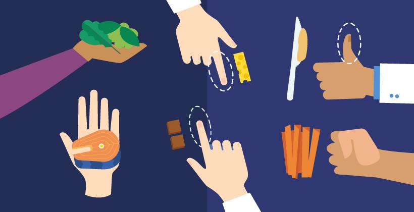 Cómo medir el tamaño de las porciones con las manos (infografía)