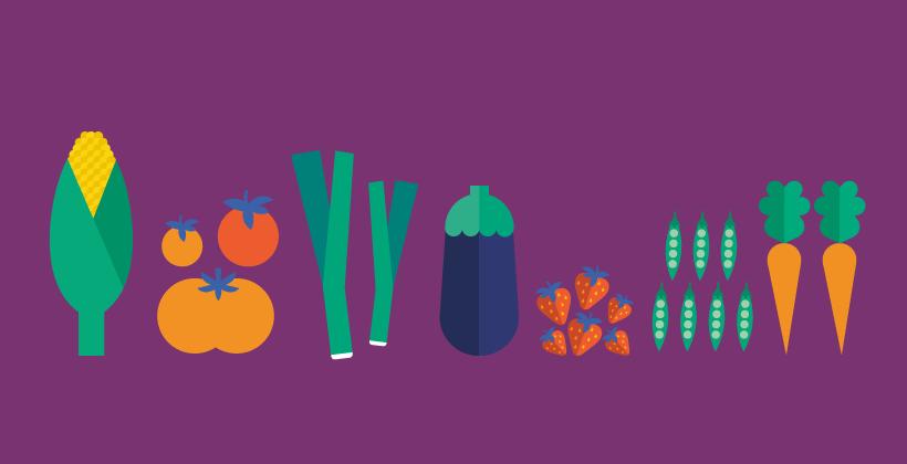 Frutas y Verduras Frescas y Sanas