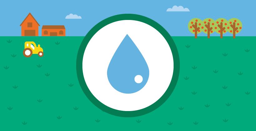 El uso del agua en la producción de alimentos