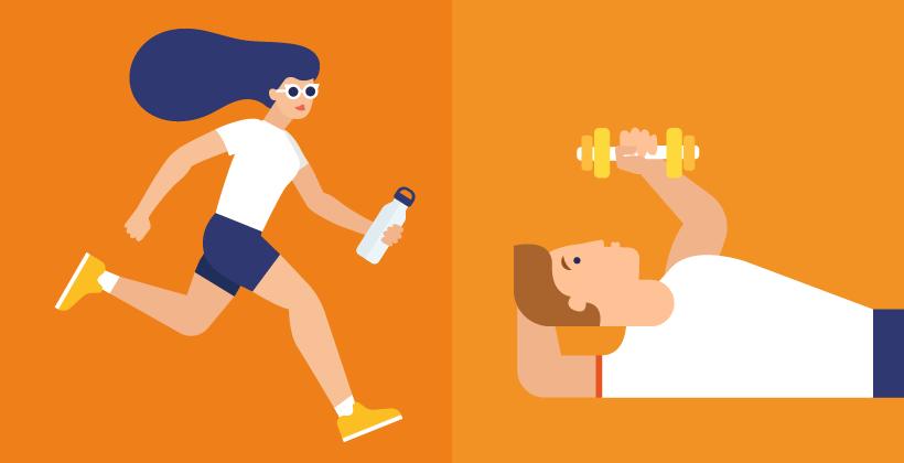 La différence entre l'exercice d'aérobie et d'anaérobie
