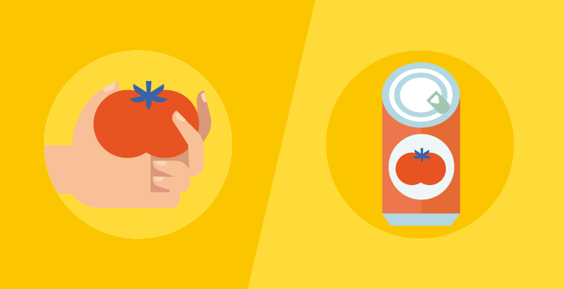 Canned tomatoes (Infographic)