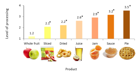 levels of processing of food products
