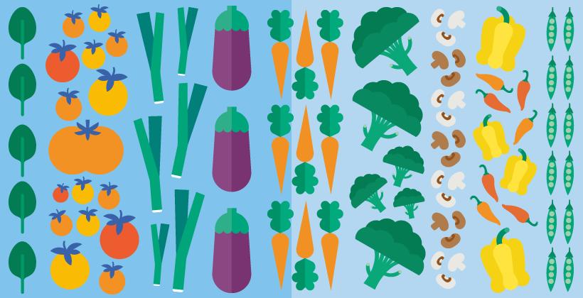 Più portate di verdure fresca per tutti